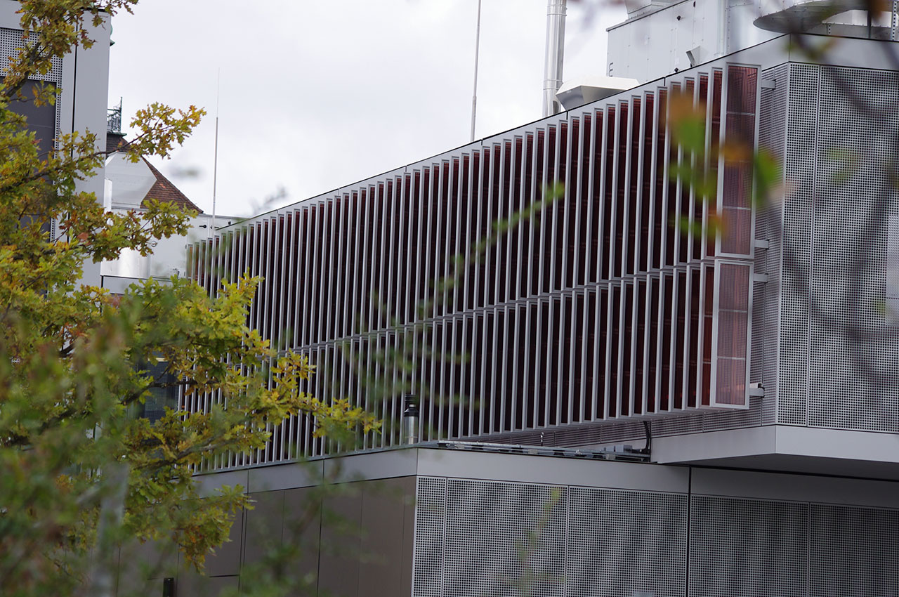 Organic Photovoltaic (OPV) designed as louvres  | Merck